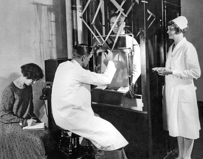 Floroscope Examination Print by Underwood Archives