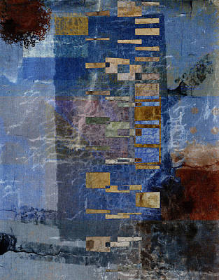 Abstract Montage Mixed Media - Flotsam by Carol Leigh