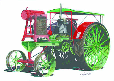 Steam Tractor Painting - Flour City Gas Tractor by Ferrel Cordle