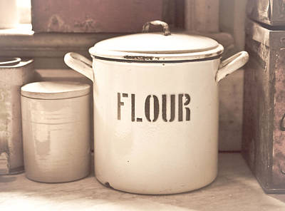 Flour Tin Print by Tom Gowanlock