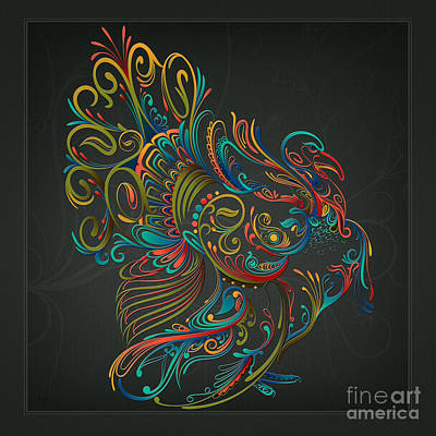 Turkey Mixed Media - Flourish Turkey by Bedros Awak