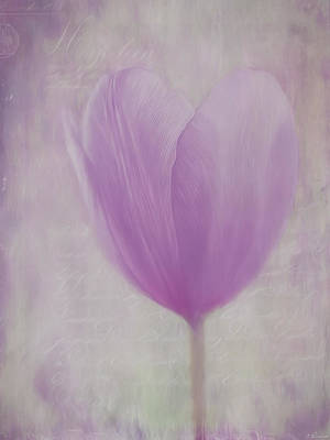 Flower Art - Love Is The Flower Print by Jordan Blackstone