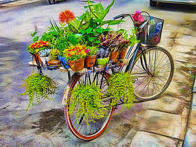 Poster Mixed Media - Flower Bike Collection by Marvin Blaine
