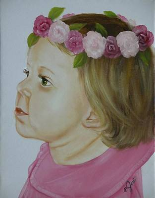 Girl Painting - Flower Child by Joni McPherson