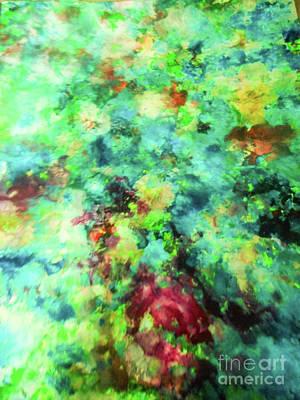 Justine Painting - Flower Chintz by Elle Justine