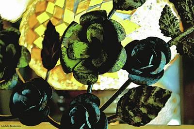 Flower Deco Print by Michelle Ressler