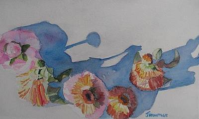 Asters Painting - Flower Doll Ball by Jenny Armitage