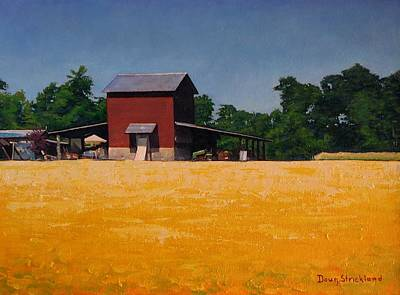 Farm House Painting - Flower Field 2 by Doug Strickland