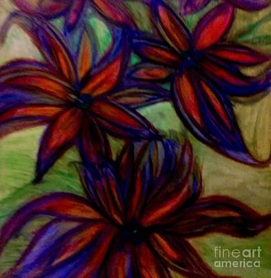 Pink Painting - Flower Flower by Stephanie Zelaya