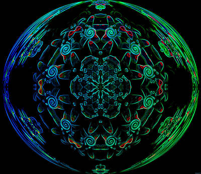 Flower Globe Print by Evelyn Patrick