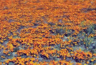 Flower Hill Print by Russ Harris