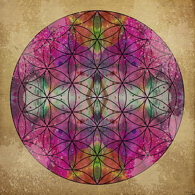 Crystal Digital Art - Flower Of Life by Filippo B
