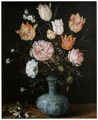 Flower Piece Print by Jan Brueghel The Elder
