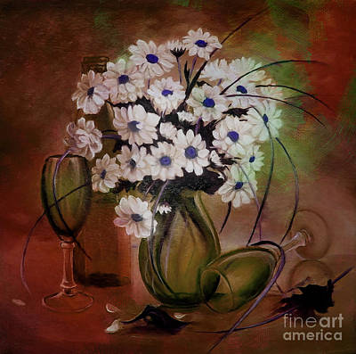 Flowers Painting - Flower Pot 01 by Gull G