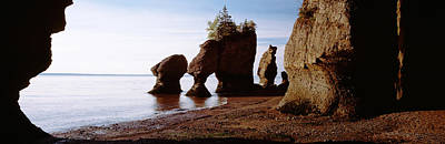 Flower Pot Rocks On The Beach, Hopewell Print by Panoramic Images