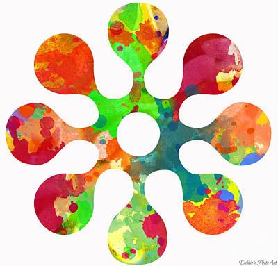 Flower Power 3 - Digital Paint Print by Debbie Portwood