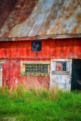 Shed Digital Art - Flower Shed by Mary Timman