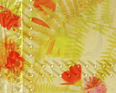 Flower Shower II Print by Bonnie Bruno