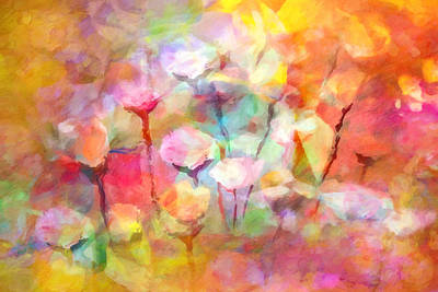 Flower Abstract Painting - Flower Symphony by Lutz Baar
