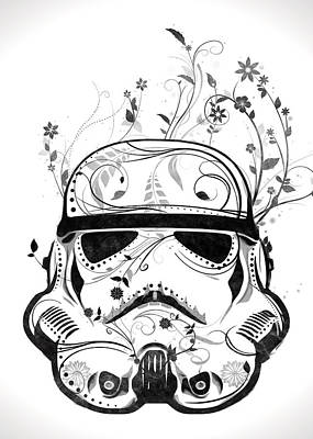 Flower Trooper Print by Nicklas Gustafsson