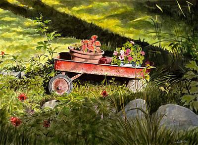 Flower Wagon Print by Tom Hedderich