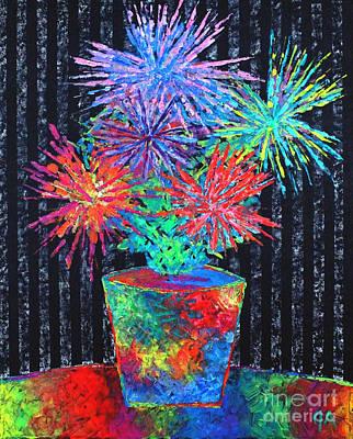Flower-works Plant Print by Jeremy Aiyadurai