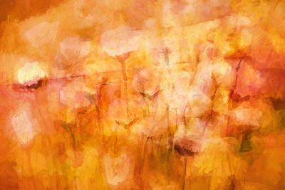 Flower Abstract Painting - Flowerdream by Lutz Baar