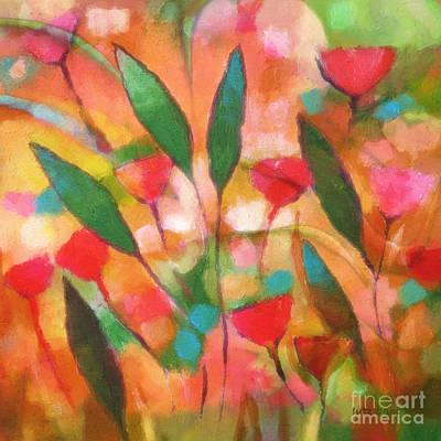 Painted Painting - Flowerflow by Lutz Baar