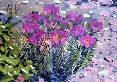 Flowering Cactus Original by Donald Maier