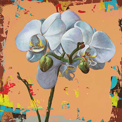 Orchids Painting - Flowers #12 by David Palmer