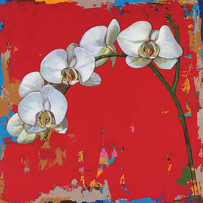 Orchids Painting - Flowers #14 by David Palmer