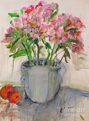 Tangerine Painting - Flowers And Fruit   by Elaine Schloss