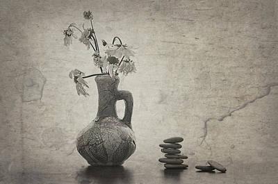 Ceramics Digital Art - Flowers And Stones by larisa Fedotova