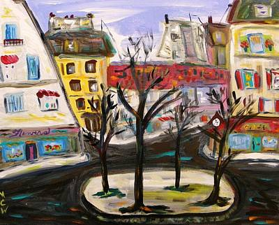 Outsider Art Painting - Flowers At The Corner by Mary Carol Williams
