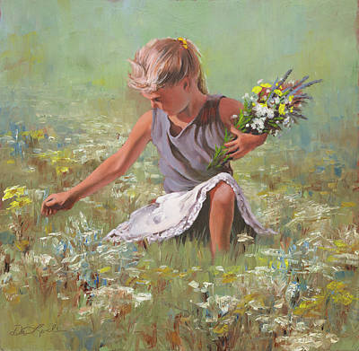 Art Of Mia Delode Painting - Flowers For Mom by Mia DeLode