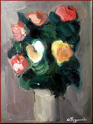 Het Painting - Flowers by Lia Togniocchi