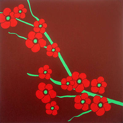 Bold Flower Painting - Flowers by Oliver Johnston