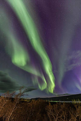 Lake Photograph - Flowing Aurora by Hitendra SINKAR