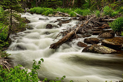 Fall Photograph - Flowing Rocky Mountain Stream by James BO  Insogna