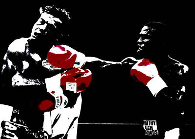Floyd Mayweather And Arturo Thunder Gatti 2 Print by Brian Reaves