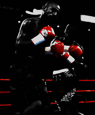 Floyd Mayweather And Diego Chico Corrales Print by Brian Reaves