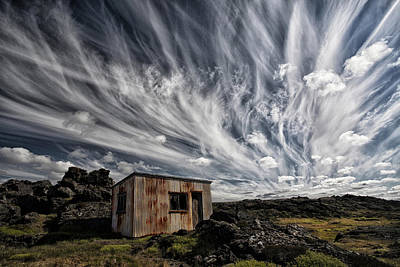 Huts Photograph - Fluffy Sky by ?orsteinn H. Ingibergsson