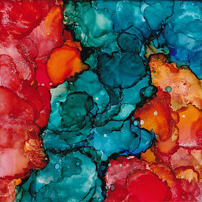 Fluid Depths Alcohol Ink Abstract Print by Nikki Marie Smith