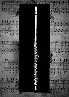 Antique Photograph - Flute by Patrick Chuprina