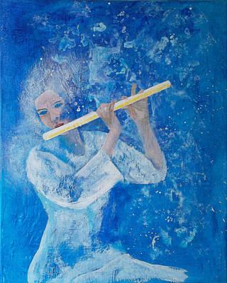 Flute Player Divine Mist Print by Francis Lee