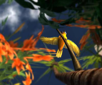 Wild Orchards Digital Art - Flutter by Monroe Snook