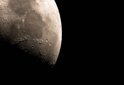 Fly By The Moon Print by Manuel Huss