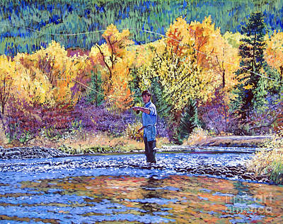 Fly Fishing Print by David Lloyd Glover