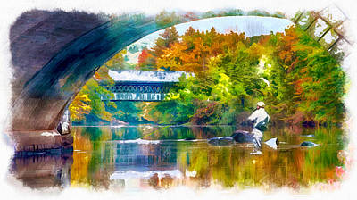 Fly Fishing In New England Print by Anthony Caruso