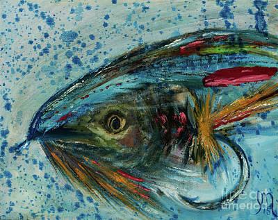 Fly Fishing Print by Jodi Monahan